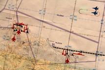 Strategic planning on a war map