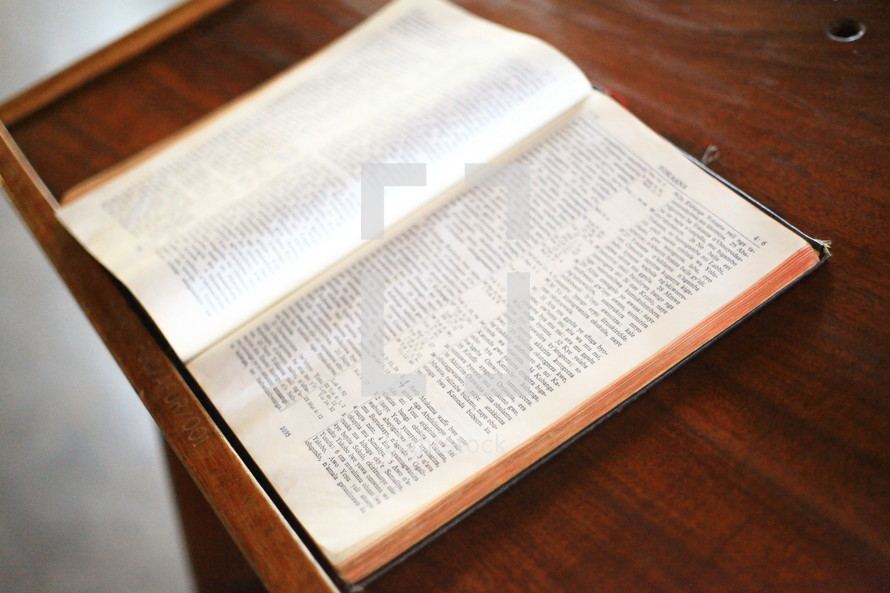 Bible on a pulpit