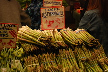 asparagus at a farmers market