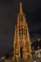 golden ornamental ornate steeple