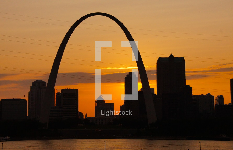 St. Louis Gateway Arch at sunset