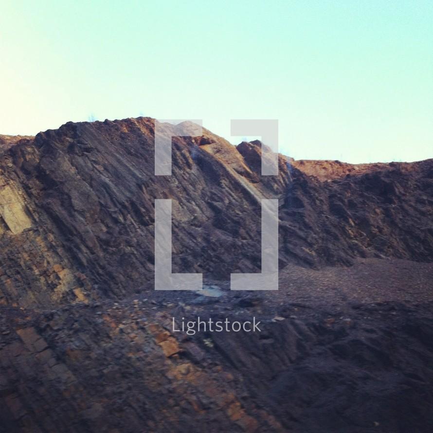 rocky mountain side