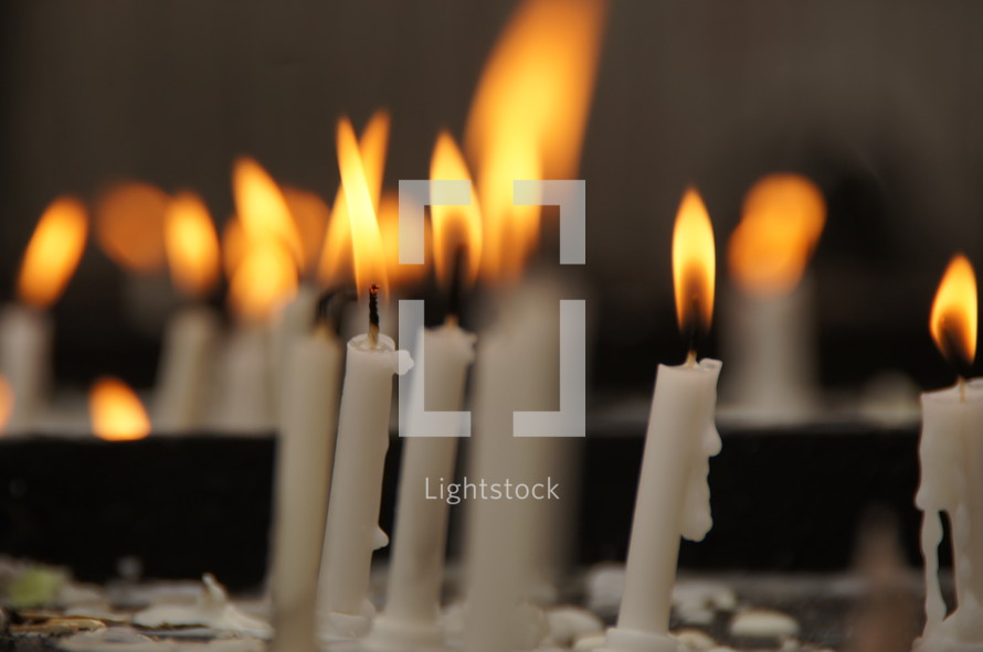 Burning candles is in some churches an indication of prayers said