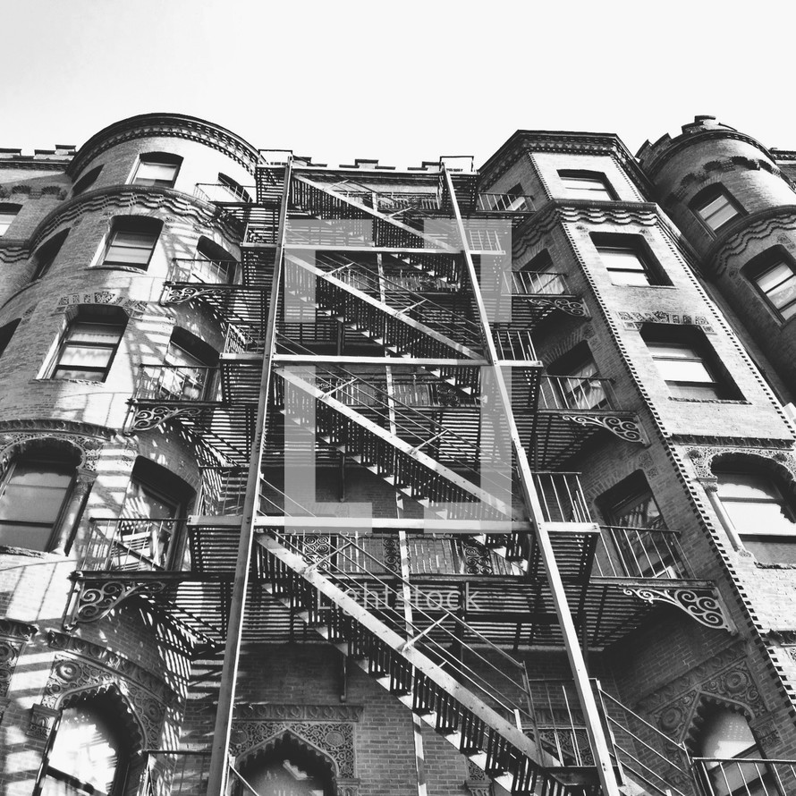 stairs of a fire escape