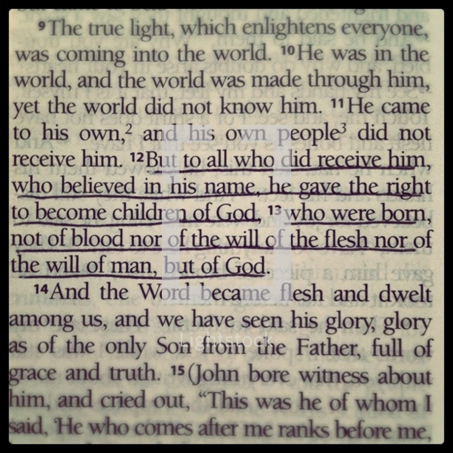 Children of God Bible verse
