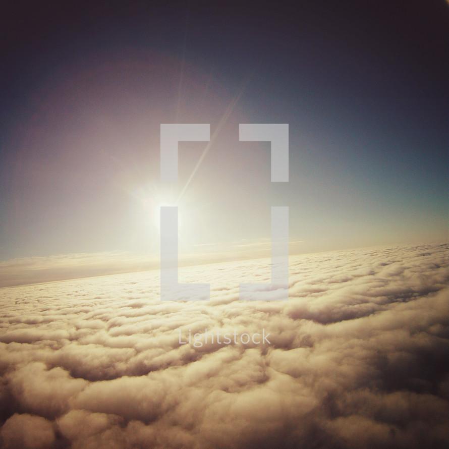 sunburst above the clouds