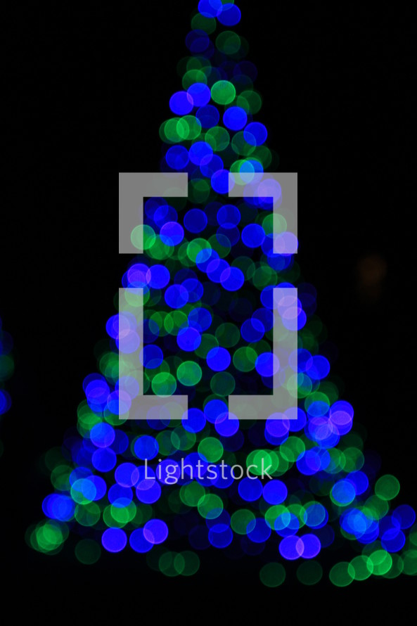 Christmas tree bokeh effect