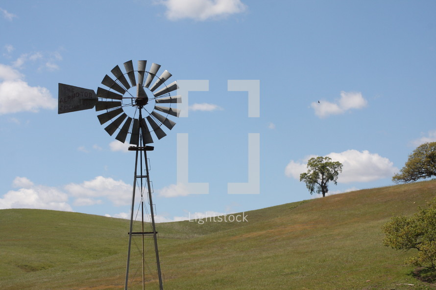 windmill in a field