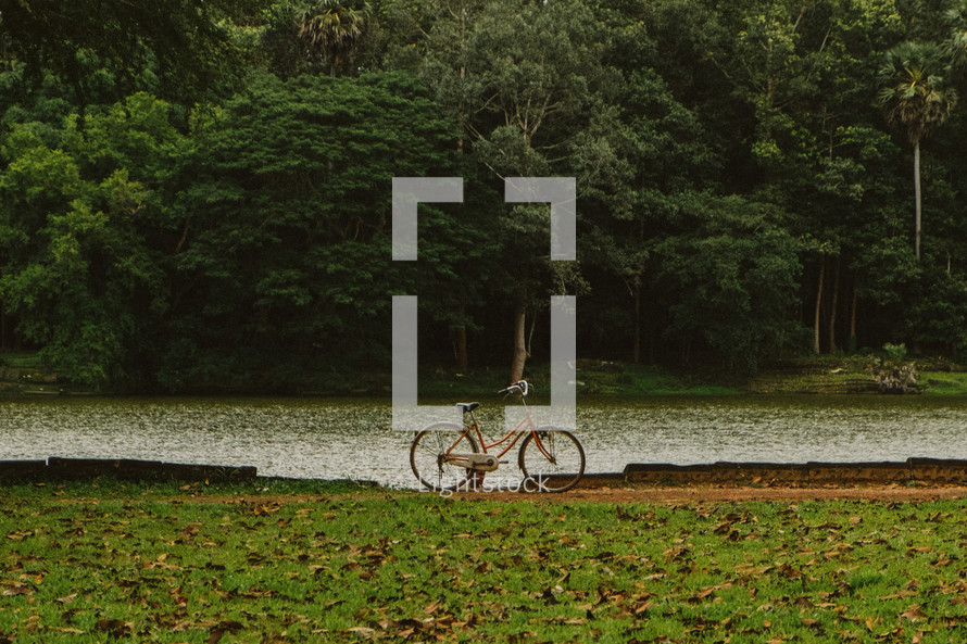 bike near a river