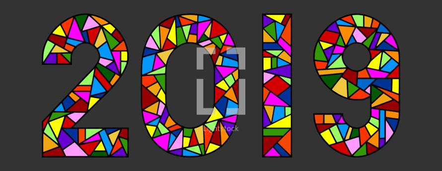 year 2019  in mosaic