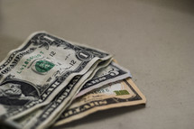 A stack of dollar bills.