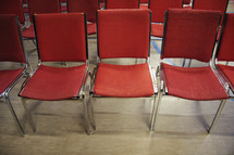 retro chairs for camp church