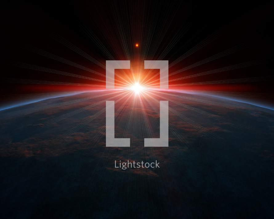 red light around Earth