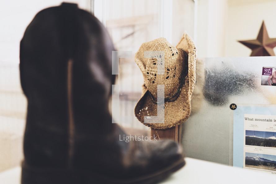 cowboy hat and cowboy boots