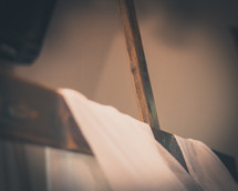 shroud, cloth, white fabric, cross