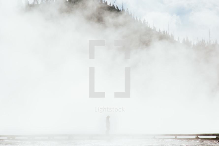 dense fog in Glacier National Park