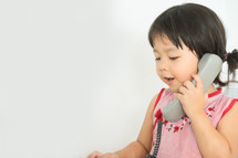girl talking on a phone