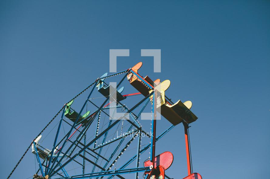 ferries wheel against blue sky