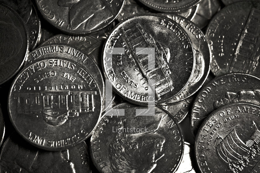 A pile of nickels