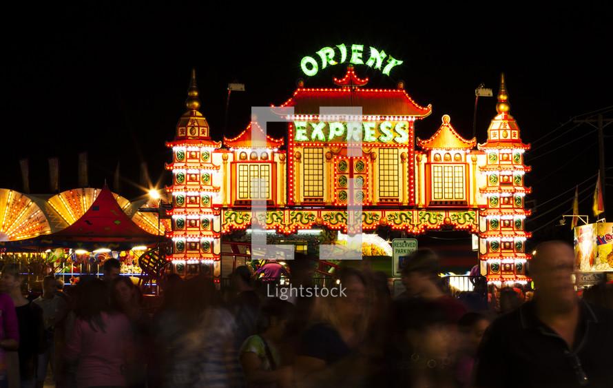 amusement park restaurant lights