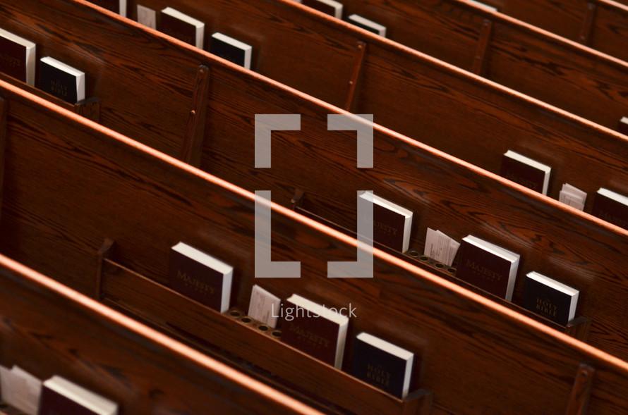 Church pew Bibles