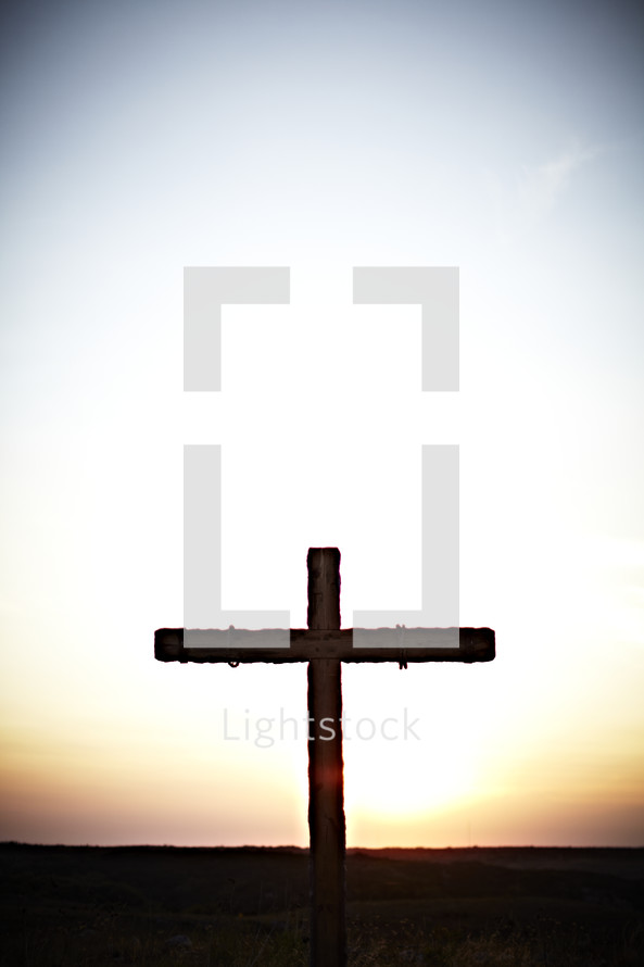 A cross at sunrise