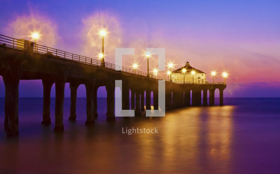 Pier at dark