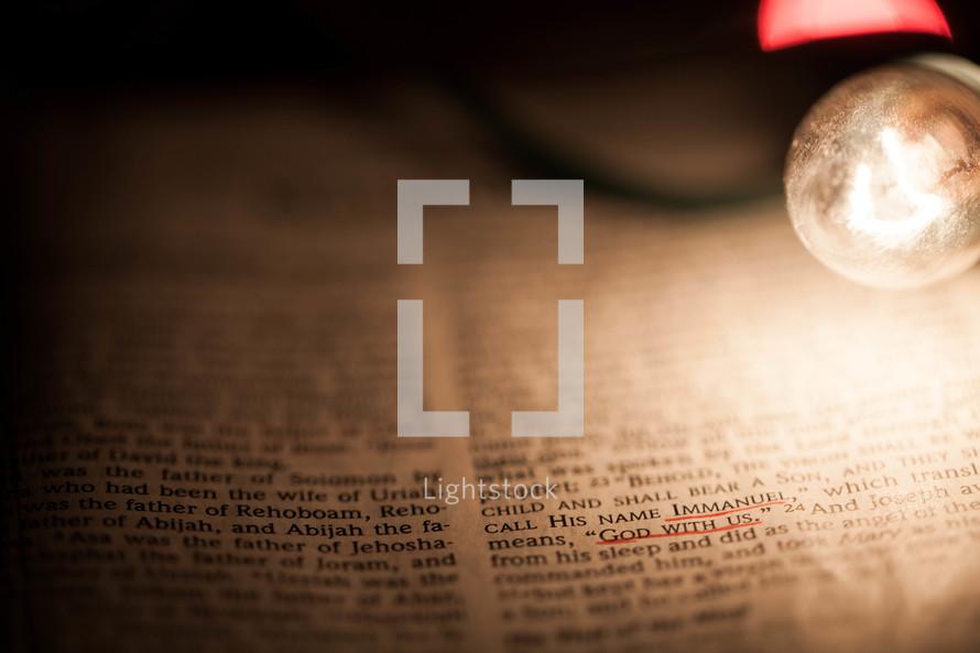 Underlined scripture