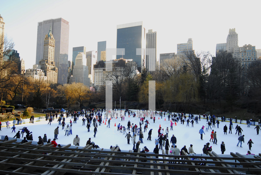 New York Central Park Ice Skating Rink