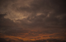Night sky.