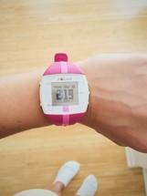 fitness watch on a wrist
