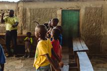 a classroom in Haiti