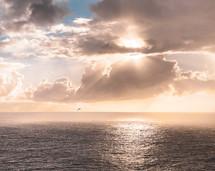 ocean water at sunset
