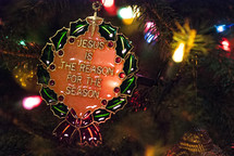 Jesus is the Reason for the Season Christmas ornament