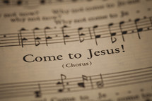 Come to Jesus sheet music
