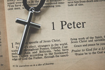 1 Peter and a cross necklace
