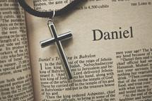 Daniel and a cross necklace