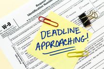 deadline approaching, tax time