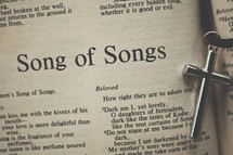Song of Solomon and a cross necklace