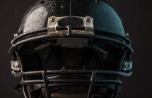 an old football helmet