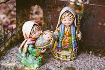 Mary, Joseph, and baby Jesus Nativity figurines