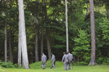 youth paintball in the woods