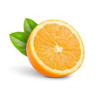 Cut orange half.