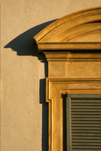 window, shutters, shadow, architecture, wall