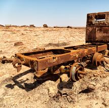 rusty metal truck