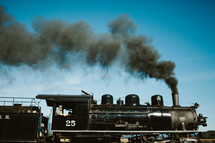 smoke from a coal engine