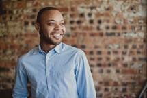 smiling African-American man