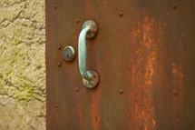 handle on a rusty door