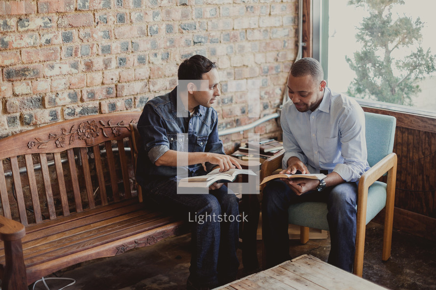 Men's Bible study.
