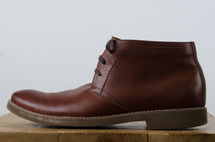 brown leather dress shoe
